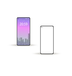 smartphone modern 2020 realistic 3d style vector image