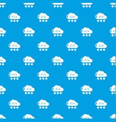 snow pattern seamless blue vector image