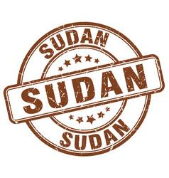 Sudan brown grunge round vintage rubber stamp vector