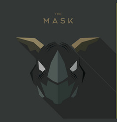 Villain antihero mask hero superhero flat style vector