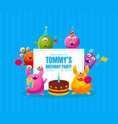 Welcome to birthday party banner template vector