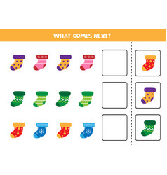 What comes next sequence game for children set vector