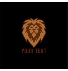 Wild gold lion head logo flat design vector