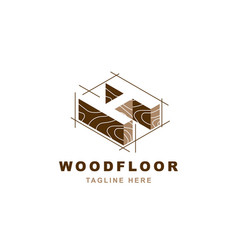 Wood logo with letter h shape vector