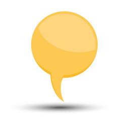 yellow cartoon comic balloon speech bubble vector image