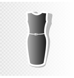 dress sign new year blackish vector image