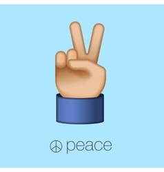 Peace sign hand showing two fingers vector image