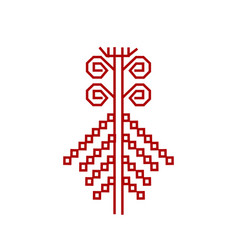 red element of design finnish ornament vector image vector image
