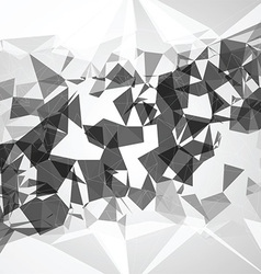 Abstract poly background vector image vector image