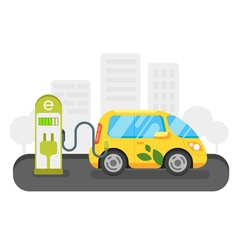 flat style of electric car vector image