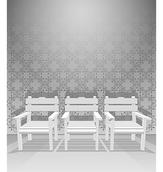 Interior chairs vector image vector image