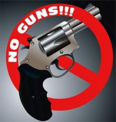 no guns revolver vector image