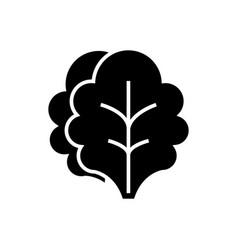 salad icon black sign on vector image