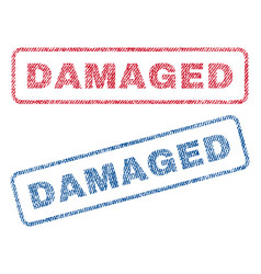Damaged textile stamps vector