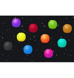 Fluffy balls in the space vector image