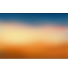 Orange and blue blurred background vector image vector image