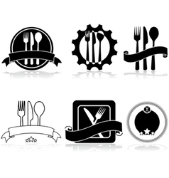Restaurant and food labels vector image