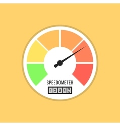 speedometer icon isolated on yellow background vector image vector image