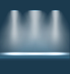 stage with spotlight shining from above vector image