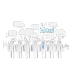 Business people communication teamwork idea vector image vector image