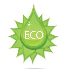 creative eco green drop symbol vector image vector image
