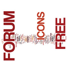 free forum icons text background word cloud vector image vector image
