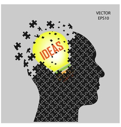 head and ideas vector image vector image