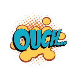 ouch comic word vector image vector image