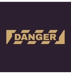 The danger icon Caution and hazard attention vector image