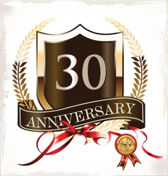 30 years anniversary golden label vector