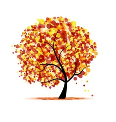 abstract autumn tree vector image
