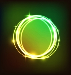 Abstract colorful circles neon background vector image