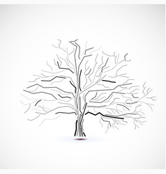 abstract futuristic tree vector image