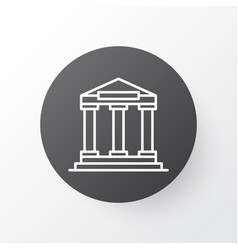 Academy building icon symbol premium quality vector