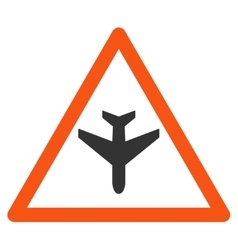 Airplane Warning Icon vector