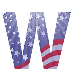 american letter W vector image