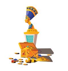 ancient egypt statue nefertiti treasure vector image