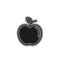 apple isolated - healthy fresh fruit symbol vector image