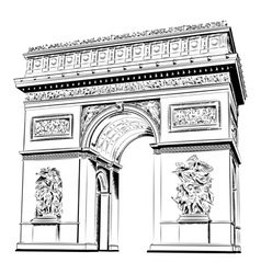 Arch triumph isolated on white vector