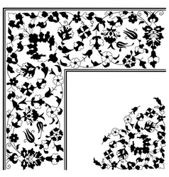 Artistic ottoman pattern series twenty five vector