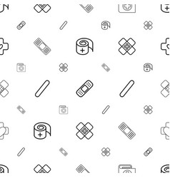 Bandaid icons pattern seamless white background vector