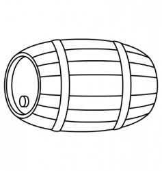Barrel wood contour vector