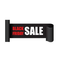 black friday sales tag discount sticker clothes vector image