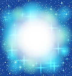 Blue abstract background light shiny star Frame vector image