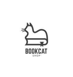 book cat logo vector image