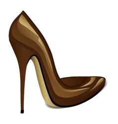 Brown High Heel vector image