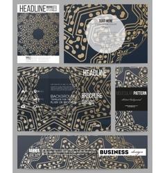 Business templates for presentation brochure vector