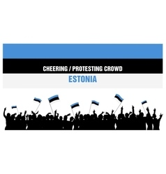 Cheering or Protesting Crowd Estonia vector image