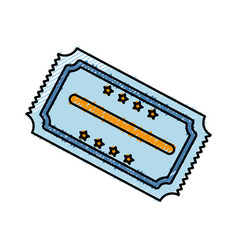 Cinema ticket icon vector