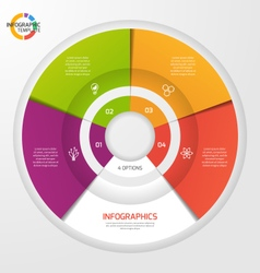circle infographic template 4 options vector image